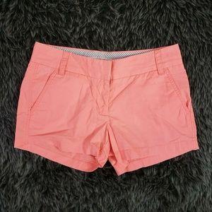 J. Crew Chino Shorts Coral Pink